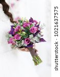 wedding bouquet of flowers | Shutterstock . vector #1021637575