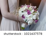 wedding bouquet of flowers | Shutterstock . vector #1021637578