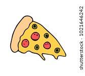 slice of pizza vector... | Shutterstock .eps vector #1021646242