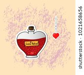 romantic love icons for... | Shutterstock .eps vector #1021658656