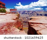 grand canyon skywalk  hualapai... | Shutterstock . vector #1021659625