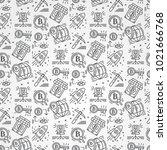 bitcoin pattern seamless... | Shutterstock .eps vector #1021666768