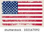 american grunge flag | Shutterstock .eps vector #102167092