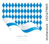 bavaria abstract wave flag... | Shutterstock .eps vector #1021679845
