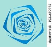 rose. vector flower. beautiful...   Shutterstock .eps vector #1021690792
