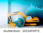 ethereum mining concept ... | Shutterstock . vector #1021693972