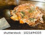 okonomiyaki  pancake  japanese...   Shutterstock . vector #1021694335