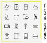 home appliances line icon set...   Shutterstock .eps vector #1021695796