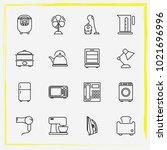 home appliances line icon set...   Shutterstock .eps vector #1021696996