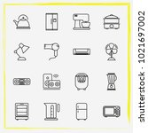 home appliances line icon set... | Shutterstock .eps vector #1021697002