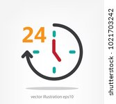 hours  time 24 hours  icon ... | Shutterstock .eps vector #1021703242