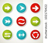 colorful arrow buttons. vector... | Shutterstock .eps vector #102170422