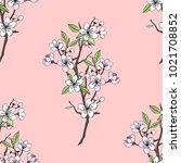 seamless pattern  with sakura.... | Shutterstock . vector #1021708852