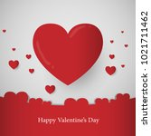 valentine's day abstract... | Shutterstock .eps vector #1021711462