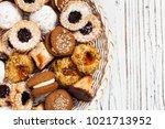 homemade european bakery style...   Shutterstock . vector #1021713952