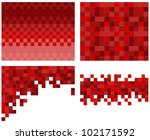 square pixel mosaic background | Shutterstock .eps vector #102171592