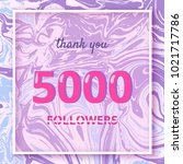 5000 followers thank you square ... | Shutterstock .eps vector #1021717786
