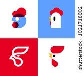 set of modern vector logo... | Shutterstock .eps vector #1021718002