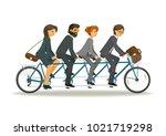 businessmen and business women... | Shutterstock .eps vector #1021719298