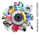 car spare parts logo. 3d... | Shutterstock . vector #1021722826