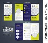 business trifold leaflet... | Shutterstock .eps vector #1021742782