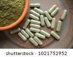 supplement kratom green... | Shutterstock . vector #1021752952