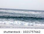 spanish bay beach in pebble...   Shutterstock . vector #1021757662