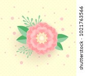 banner or greeting card... | Shutterstock .eps vector #1021763566