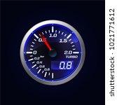 car speedometer  tachometer ...   Shutterstock .eps vector #1021771612