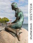 Small photo of COPENHAGEN, DENMARK - MAY 25: Monument of the Little Mermaid in Copenhagen, Denmark May 25, 2017