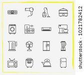 home appliances line icon set... | Shutterstock .eps vector #1021782412