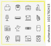 home appliances line icon set... | Shutterstock .eps vector #1021782415