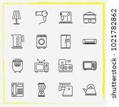 home appliances line icon set...   Shutterstock .eps vector #1021782862