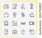 home appliances line icon set... | Shutterstock .eps vector #1021782892