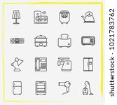 home appliances line icon set... | Shutterstock .eps vector #1021783762