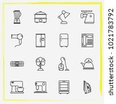 home appliances line icon set... | Shutterstock .eps vector #1021783792