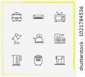 home appliances line icon set...   Shutterstock .eps vector #1021784536