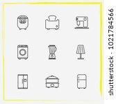 home appliances line icon set...   Shutterstock .eps vector #1021784566