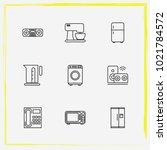 home appliances line icon set... | Shutterstock .eps vector #1021784572
