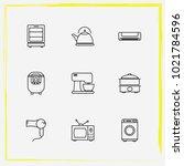 home appliances line icon set...   Shutterstock .eps vector #1021784596
