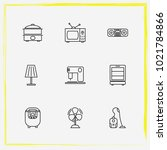 home appliances line icon set... | Shutterstock .eps vector #1021784866
