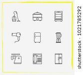 home appliances line icon set...   Shutterstock .eps vector #1021785292