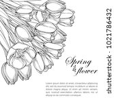 vector corner bouquet with... | Shutterstock .eps vector #1021786432
