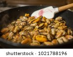 cooking steamed and roasted... | Shutterstock . vector #1021788196