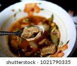 pork bone soup made in the house | Shutterstock . vector #1021790335