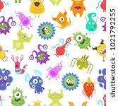 vector cartoon style seamless...   Shutterstock .eps vector #1021792255