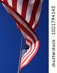 american flag waving in the... | Shutterstock . vector #1021794145