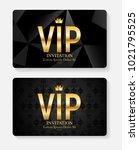 luxury members  gift card... | Shutterstock .eps vector #1021795525