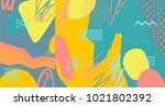 creative doodle art header with ... | Shutterstock .eps vector #1021802392