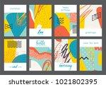 set of creative universal... | Shutterstock .eps vector #1021802395
